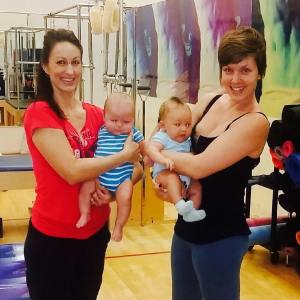 Alison Marsh with baby Zechariah (Left) and Delphine Perroud with baby Deliam (Right)